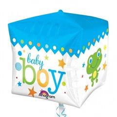 Balon folie cubez Baby Boy - 38x40cm, Amscan 28381