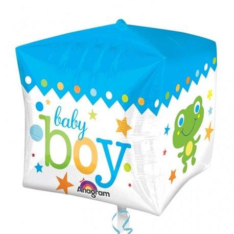 Cubez Blue Baby Boy Foil Balloon, 38  x 40 cm, Amscan 28381, 1 piece