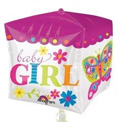 Balon folie cubez Baby Girl - 38x40cm, Amscan 28382