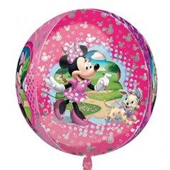 Orbz Disney Minnie Mouse Foil Balloon, 38 x 40 cm, Amscan 28394, 1 piece