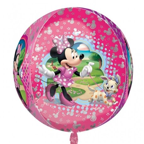 Orbz Disney Minnie Mouse Foil Balloon, 38 x 40 cm, Amscan 28394, 1 piece