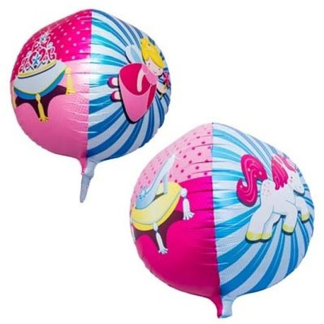 3D Sphere Foil Balloon Princess, 43 cm, Amscan 01183, 1 piece