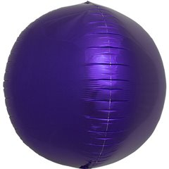 Balon folie sfera purple metalizat 3D - 43cm, Northstar Balloons 01009