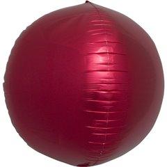 Balon folie sfera rosu metalizat 3D - 43cm, Northstar Balloons 01008