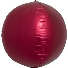 "Metallic Red 3D Sphere Foil Balloon - 17""/43 cm, Northstar Balloons 01008, 1 piece"