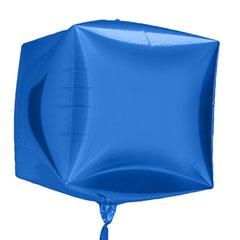 Foil Balloon Cube 3D Blue, 45 cm, 01013
