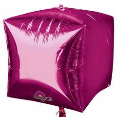 Large Cube Helium Balloon 3D Magenta, 45 cm,  01012