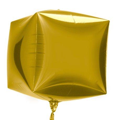 Balon Folie Cubez 3D Auriu, 45 cm, 01011
