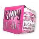 Balon Folie Cubez 3D Happy Birthday, 45 cm, 01040
