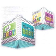 Balon folie cubez 3D Welcome Baby - 45cm, Northstar Balloons 01042
