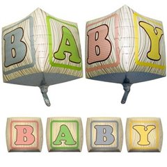 Balon folie cubez 3D cuburi Baby - 45cm