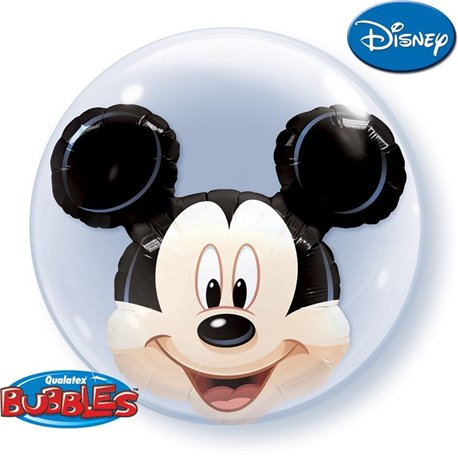 "Mickey Mouse Double Bubble Balloon - 24""/61cm, Qualatex 27569, 1 piece"