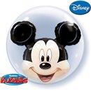 "Mickey Mouse Double Bubble Balloon - 24""/61cm, Qualatex 27569, 1 piece"