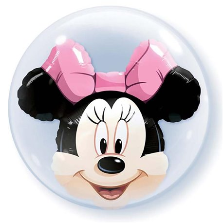 "Minnie Mouse Double Bubble Balloon - 24""/61cm, Qualatex 27568, 1 piece"
