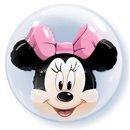 "Minnie Mouse Double Bubble Balloon - 24""/61cm, Qualatex 27568, 1 piece"