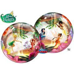 "Tinkerbell and Friends Bubble Balloon - 22""/56cm, Qualatex 19874, 1 piece"