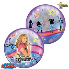 "Balon Bubble 22""/56cm Qualatex, Hannah Montana, 19024"