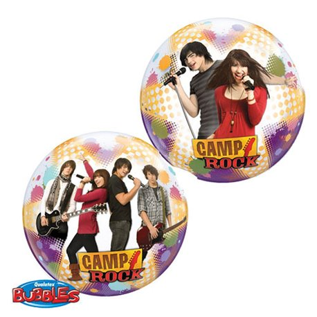"Camp Rock Bubble Balloon - 22""/56cm, Qualatex 19028, 1 piece"