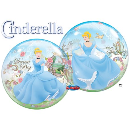 "Cinderella Dream Big Bubble Balloon - 22""/56cm, Qualatex 29372, 1 piece"