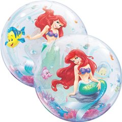 "The Little Mermaid Bubble Balloon - 22""/56cm, Qualatex 60166, 1 piece"