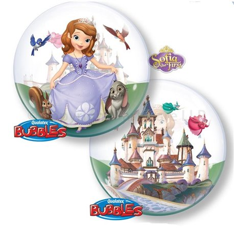 "Sofia The First Bubble Balloon - 22""/56cm, Qualatex 65577, 1 piece"