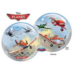 "Planes Bubble Balloon - 22""/56cm, Qualatex 60165, 1 piece"