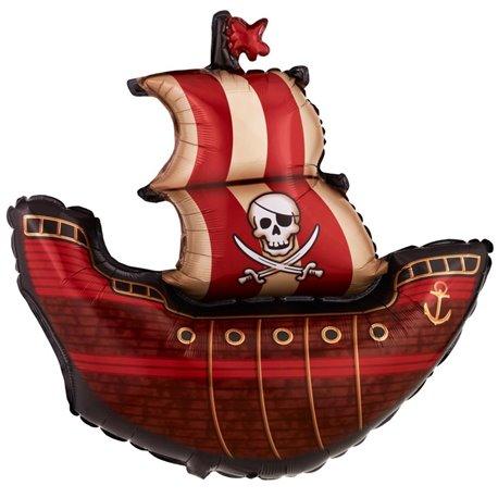 Pirate Ship Shape Jumbo Foil Balloon, 102 cm, 11815