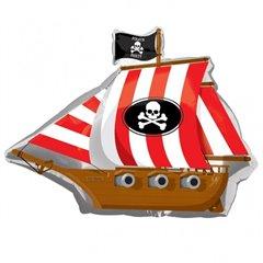 Balon folie figurina corabie pirat - 84x66cm, Amscan 17975