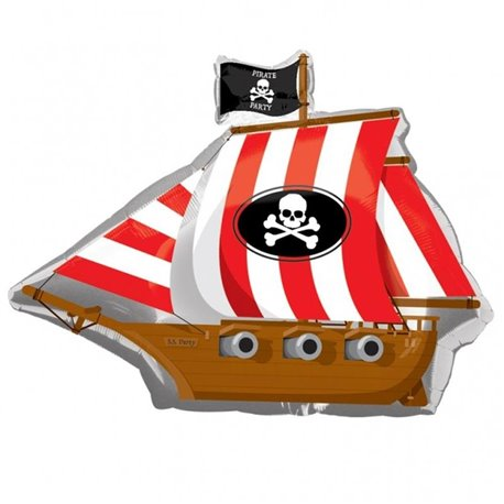 Pirate Party Ship SuperShape Foil Balloon, 84x66 cm, 17975