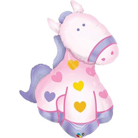 Soft Pony Foil Balloon, Qualatex, 29679
