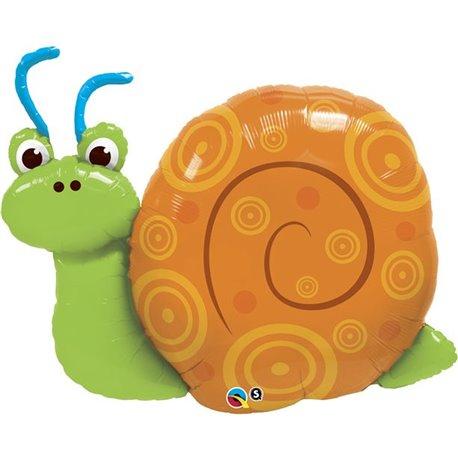 """Cute Swirly Snail Shape Foil Balloon - 91cm/36"""", Qualatex 30728"""