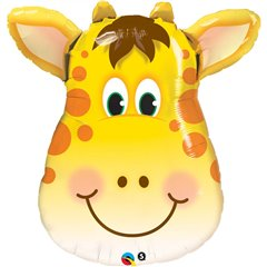 Balon Folie Figurina Cap Girafa, 80 cm, Qualatex 31038