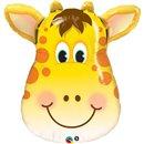 Balon Folie Figurina Cap Girafa, Qualatex, 80 cm, 31038