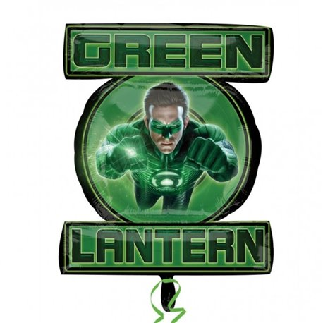 Green Lantern Supershape Foil Balloon, 53x61 cm, 22327
