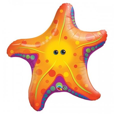 Sea Star SuperShape Foil Balloon, Qualatex, 76 cm, 35373