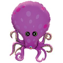 "Amazing Octopus Shape Foil Balloon - 89cm/35"", Qualatex 25164"