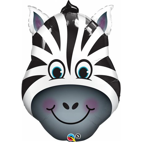 Balon Folie Figurina Cap Zebra, Qualatex, 81 cm, 35408