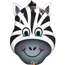 Balon Folie Figurina Cap Zebra, Qualatex, 81 cm, 35408