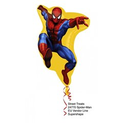 VB Spiderman Helium Foil Supershape, 24770