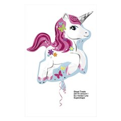 Unicorn Super Shape Foil Balloon, 58 cm, 24775