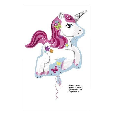 Balon Folie Figurina Unicorn, 58 cm, 24775