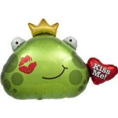 "Balon folie figurina broasca ""Kiss me"" - 81cm, Northstar Balloon 00617"