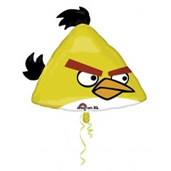 Large Yellow Angry Birds Balloon, Amscan, 58x23 cm, 25028