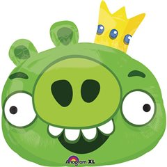 Balon folie figurina King Pig Angry Birds - 56x58cm, Amscan 24811