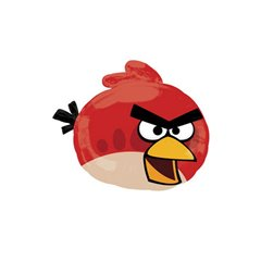 Balon folie figurina Red Bird Angry Birds - 54x51cm, Amscan 24810