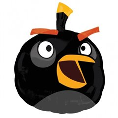 Balon folie figurina Black Angry Birds, Amscan 25466