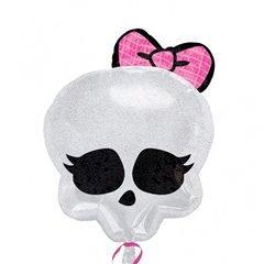 Monster High Skull Foil Balloon Junior Shape, 45 cm, 21147