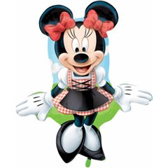 Balon folie figurina Minnie Mouse Dirndl - 75cm, Amscan 27390