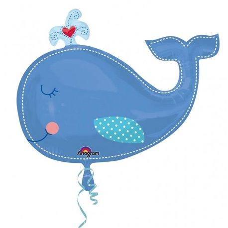 Balon Folie Figurina Balena Bleu, Amscan, 86x61 cm, 24576