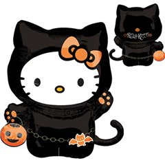 Balon Folie Figurina Hello Kitty Halloween, Amscan 16212